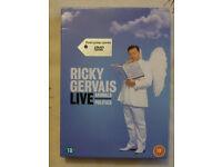 RICKY GERVAIS LIVE ANIMALS/POLITICS DVD BOXSET