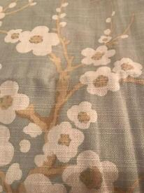 Duck egg blue lined laura Ashley curtains floral