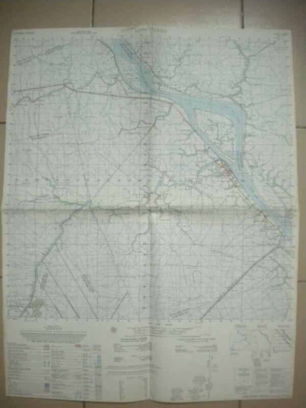 LONG XUYEN Vietnam map Mekong Delta AHC PBR Navy 6029 I