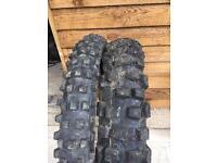 2 motocross tyres