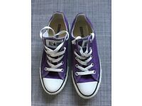 Converse All Star Ox in purple - size UK 4 - excellent condition