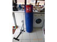 Punch Bag 4ft BBE with wall mount brackets (manufacturer filling) - very good condition
