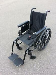 "#001  16"" wide  Invacare Patriot FOLDING Lightweight Aluminum Frame Wheelchair for ONLY $60"