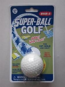 GOLF BALL Vintage Reproduction WHAM-O Original SuperBall SUPER ZECTRON RUBBER