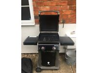 Weber Spirit E210 BBQ with Weber cover and gas bottle