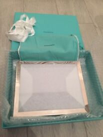 Tiffany & Co Sterling Silver Rectangular Photo Frame 8 x 10 brand new in box