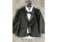TUXEDO 2 child's M&S Autograph tuxedos (jacket, shirt, bow tie and trousers). Ages 1.5-2 and 2-3yrs