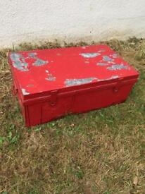 metal trunk storage chest - STILL AVAILABLE - wookey near wells in somerset