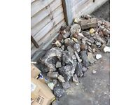 Free Rubble and Pebbles clearing out garden soil