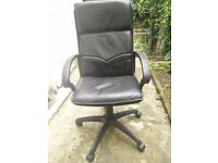 Office chair (black faux leather) for sale