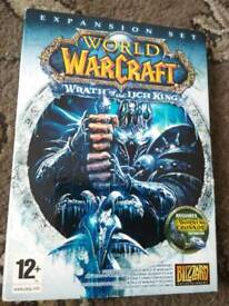 WARCRAFT dvd rom expansion sets - Wrath of the Lich King + Cataclysm