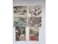 6 Chinese Small Antique Paintings