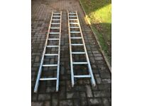 Aluminium Double Extension Ladders
