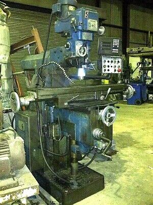 Milling Machine Vert. 10x50 Firstbridgeport-type 40 Spdl 3 Ax. Feedsdro