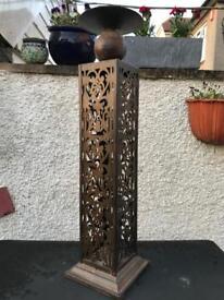 Tall Iron Pillar Candle Stand