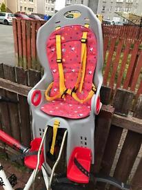 Child carrier for your bicycle. Up to 22kg - 4/5 yeras old