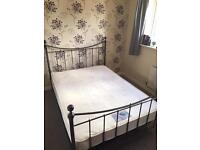 Metal double Bed with matress
