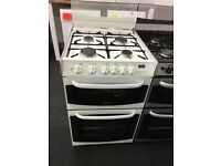 CANNON 55CM ALL GAS COOKER IN WHITE WITH LID
