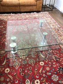 Jacque extending glass coffee table (tempered glass)
