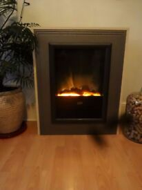 Dimplex Optiflame Cream grey Electric Fireplace