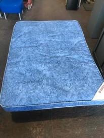 Double Mattress & Metal Base - Lightly Used