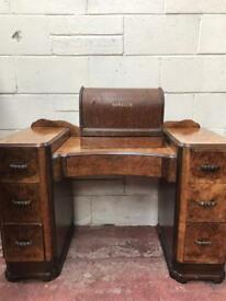Circa 1950s walnut dressing table