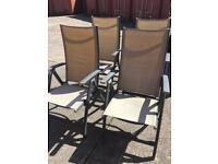 4x garden chairs