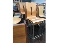 High chair Chrome & Beech