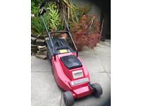 Mountfield Princess 14 electric rotary lawnmower with grass collection.