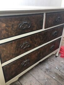 Vintage/shabby chic chest of drawers
