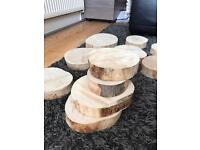 Wedding Wood Slab Centre pieces x 10