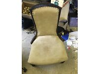 Old possibly antique nursing chair