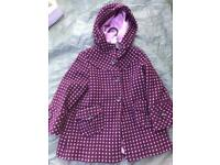 Girls Monsoon coat age 4-6
