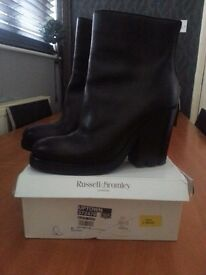 Russell & Bromley Black Leather Ankle boots, Size euro 39.5