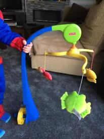 Fisher price cot mobile rotates and plays music