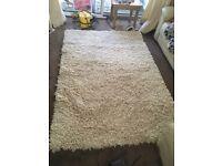 Large shaggy wool rug