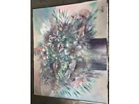 Large framed Lee Reynolds Vanguard Oil Painting on canvas