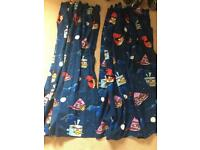 Angry Bird Space Curtains (pair)