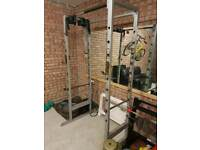 Old style squat rack & 20kg Olympic barbell