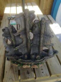 Tropical fish tank ornament shipwreck