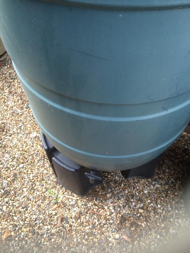 210 litre water butt& stand (now SOLD)