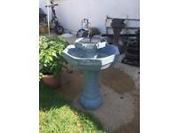 Solar powered garden fountain/ bird feeder only £80