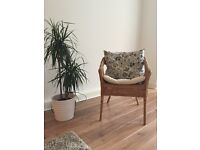 IKEA Agen handwoven armchair / chair with a seat cushion
