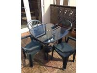Patio table & four chairs