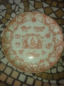 queen Victoria celebration plate