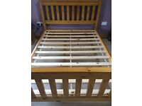 Pine double bed £60.00 + optional mattress £50.00