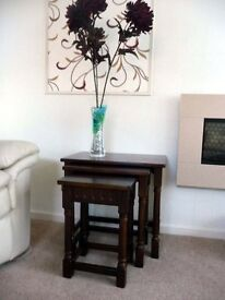 Nesting Tables - solid dark wood vey good quality