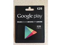 Google Play voucher £25
