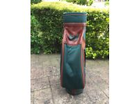 Nicklaus golf bag , green canvas and brown leather effect