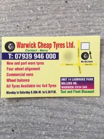 Warwick Cheap Tyres - Hot Winter Tyre Sale